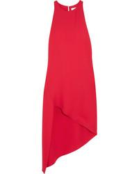 IRO Hamlin Asymmetric Crepe Dress Red