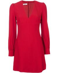 Dondup V Neck Structured Shouldered Dress
