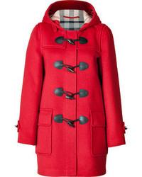 Brit wool minstead duffle coat in military red medium 45140