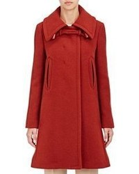 Chloé Brushed Twill Coat Colorless