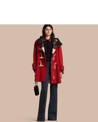 Burberry Double Faced Technical Wool Duffle Coat