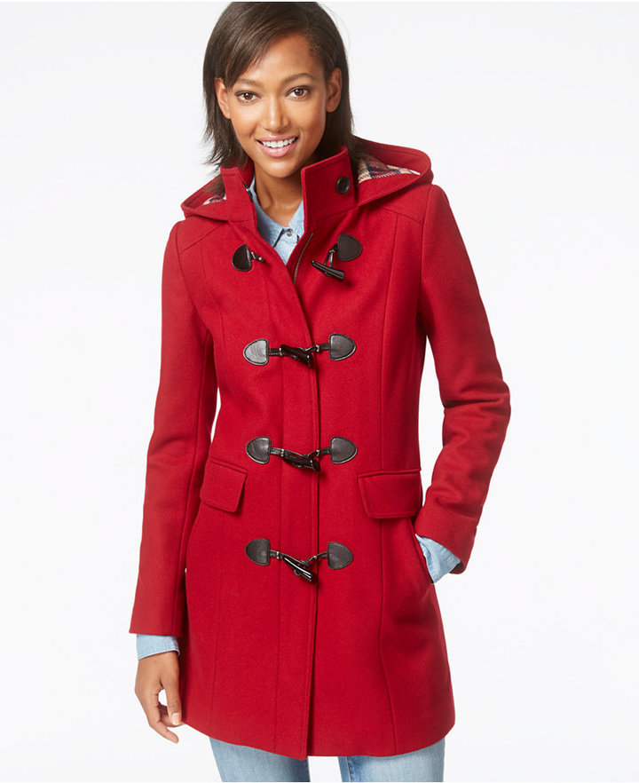 Tommy Hilfiger Hooded Wool Blend Toggle Coat | Where to buy & how ...