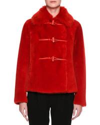 Lamb shearling fur toggle coat medium 3729720