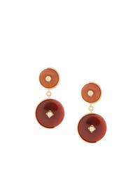 Crystalline Clip On Stone Earrings