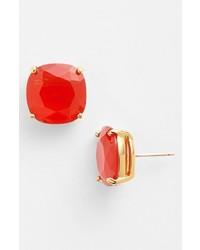 kate spade new york Stud Earrings Red Gold