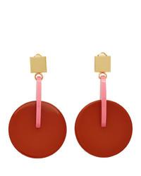 Marni Pink And Red Vertigo Earrings