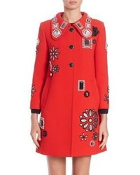 Marc Jacobs Embellished Wool Coat