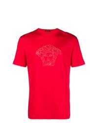 Versace Embellished Medusa T Shirt