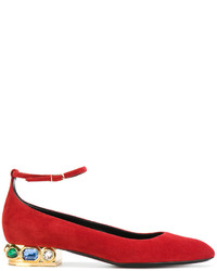 Casadei Embellished Heel Ballerinas
