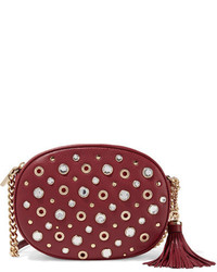 MICHAEL Michael Kors Michl Michl Kors Ginny Embellished Textured Leather Shoulder Bag