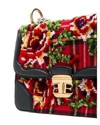 Ermanno Scervino Scottish Check Chain Bag