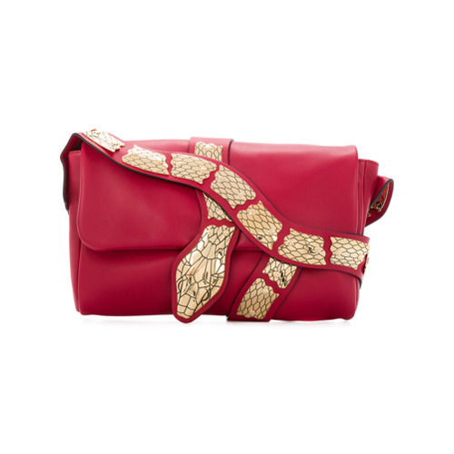 RED Valentino Snake Embellished Shoulder Bag