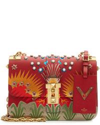Valentino B Rockstud Embellished Leather Shoulder Bag
