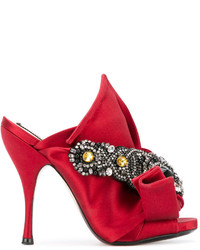 No.21 No21 Embellished Bow Mules