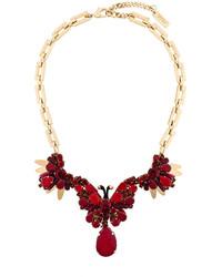 Rada' Rad Embellished Rhinestone And Bead Necklace