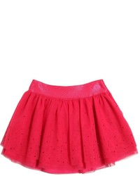 Miss Blumarine Embellished Layered Tulle Skirt