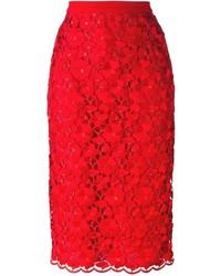 Piccione Piccione Piccionepiccione Floral Lace Embroidered Pencil Skirt
