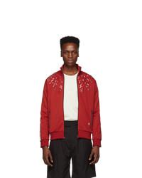 Stella McCartney Red Embroidery London Track Jacket