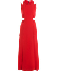Fendi Ankle Length Dress With Cut Out Detail