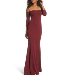Katie May Brentwood Three Quarter Sleeve Off The Shoulder Gown