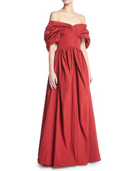 Dionne off the shoulder taffeta gown medium 5277220