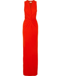 Lanvin Twist Front Jersey Gown Red