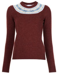 Barrie cashmere fair isle jumper medium 1210951