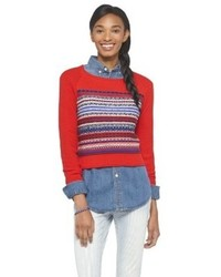 Mossimo Cropped Fair Isle Sweater Supply Co