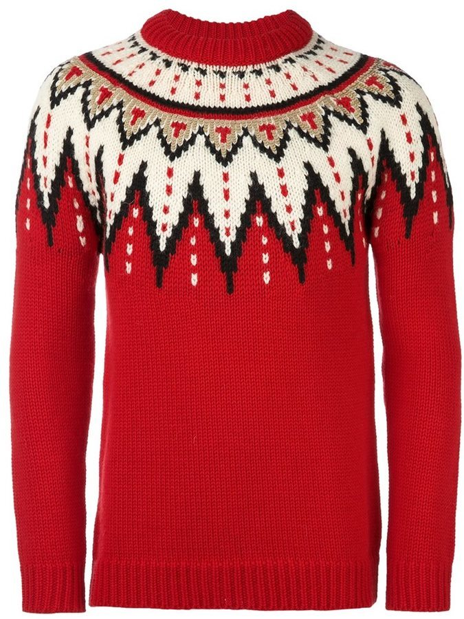 Saint Laurent Jacquard Fair Isle Jumper | Where to buy & how to wear