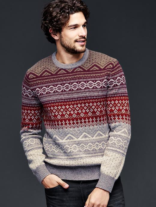 Gap Lambswool Fair Isle Crew Sweater   Where to buy & how to wear