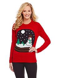 Lisa International Light Up Snowglobe Christmas Sweater