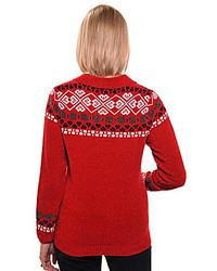 Allison Daley Petite Fair Isle Polo Sweater