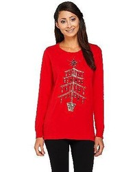 Quacker factory yuletiddings pullover sweater medium 124416