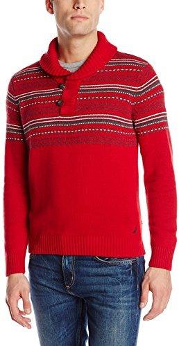 Nautica Fair Isle Shawl Sweater | Where to buy & how to wear