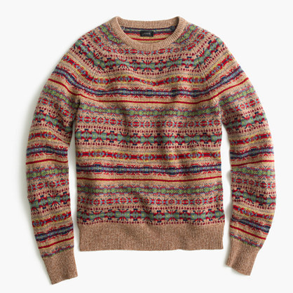 J.Crew Lambswool Fair Isle Sweater In Honey | Where to buy & how ...
