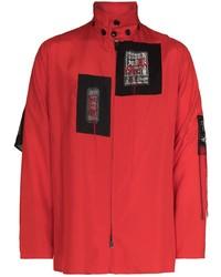 Yohji Yamamoto Patch Detail Shirt Jacket