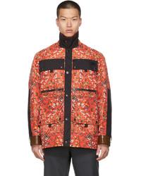 Burberry Red Floral Northfleet Jacket