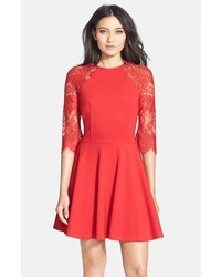 Red fit and flare dress original 11315913