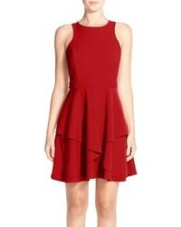 Adelyn r gabardine fit flare dress medium 1249551