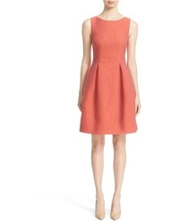 Lela Rose Betsy Embossed Organza Fit Flare Dress