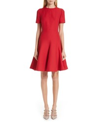 Valentino Crepe A Line Dress