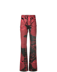 Calvin Klein 205W39nyc Painted Print Flared Jeans