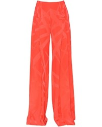 Printed stretch cady flared pants medium 3641632
