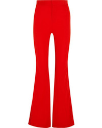 Givenchy Satin Trimmed Stretch Crepe Flared Pants