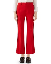 Gucci Stretch Cady Crop Flare Pants