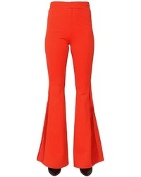 Stretch cady satin flared pants medium 3744552