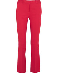 Stretch crepe flared pants tomato red medium 1044744