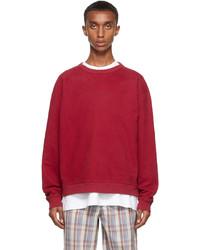 Acne Studios Red Fleece Logo Sweatshirt