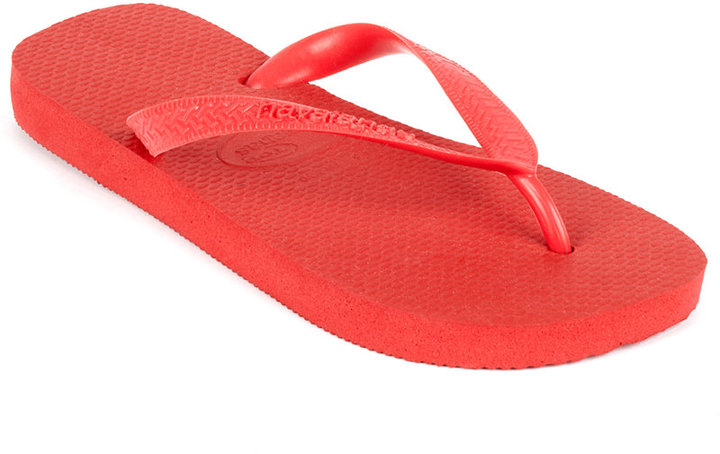 89821d9b8 ... Red Flip Flops Havaianas Shoes Top Solid Flip Flop Sandals ...