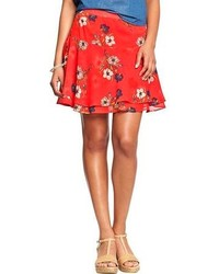 Floral crinkle chiffon skirts medium 107553